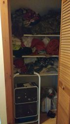 """I'm a stuffer. Closets, drawers, cupboards - you name it, it's likely stuffed full of clothes or towels. My husband coined this term early in our relationship. """"You fold the stuff then you stuff it in the drawer,"""" he'd say, making fun of my laundry skills. Guess what? He folds his own laundry! He has ever since we've been married. Because this is how I roll and if he doesn't like it then he can do it his way. 😂 Everything pictured in this closet is clean. When I took this picture this morning after """"stuffing"""" a pillowcase into it, I thought of that meme that has been making its way around the interwebs for years. You know the one! With the perfectly folded fitted sheet that says """"This is how my mom folds"""" & next to it is another fitted sheet that is all crumpled up into a ball but still """"folded"""" that depicts how the daughter supposedly folds her fitted sheets. That's so me and my mom. Who taught our mothers to fold so darn good? Grandma? Maybe it skips a generation? I'm not sure. All that really matters is that our laundry is clean and put away. Ok, so it's a little chaotic...but you know what? I know exactly where my son's neon orange shorts are in his dresser drawer & where that darn pillowcase is! I have a system. It works for me! And I don't have time to make my drawers and closets look perfect. Who really comes over to your house and looks at these things anyways? I don't think I'd want a friend that'd judge me based on what the inside of my linen closet looks like anyways. You do you mama, even if you are a stuffer like me."""